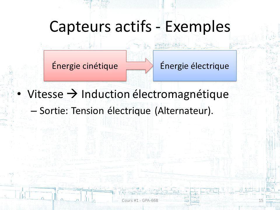 Capteurs actifs - Exemples