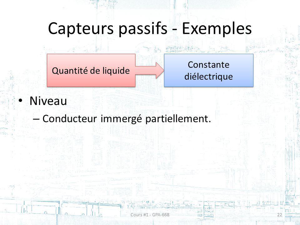 Capteurs passifs - Exemples
