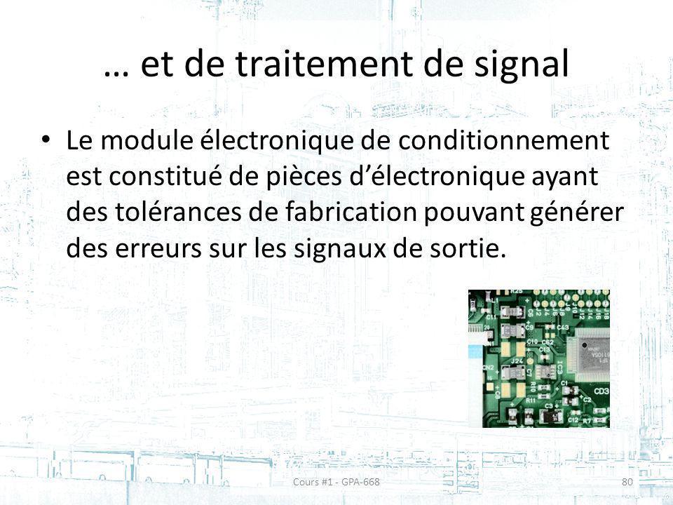 … et de traitement de signal