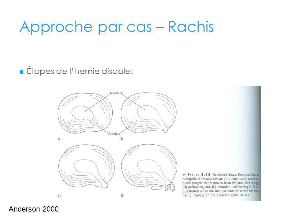 Approche par cas – Rachis