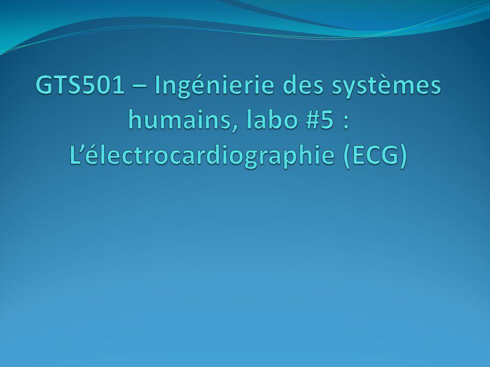 GTS501 – Ingénierie des systèmes humains, labo #5 : L'électrocardiographie (ECG)