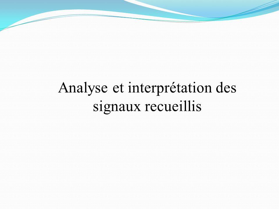 Analyse et interprétation des signaux recueillis