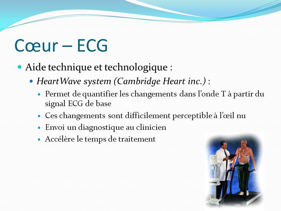 Cœur – ECG Aide technique et technologique :