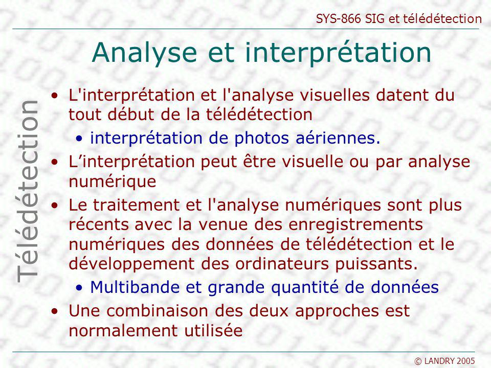 Analyse et interprétation