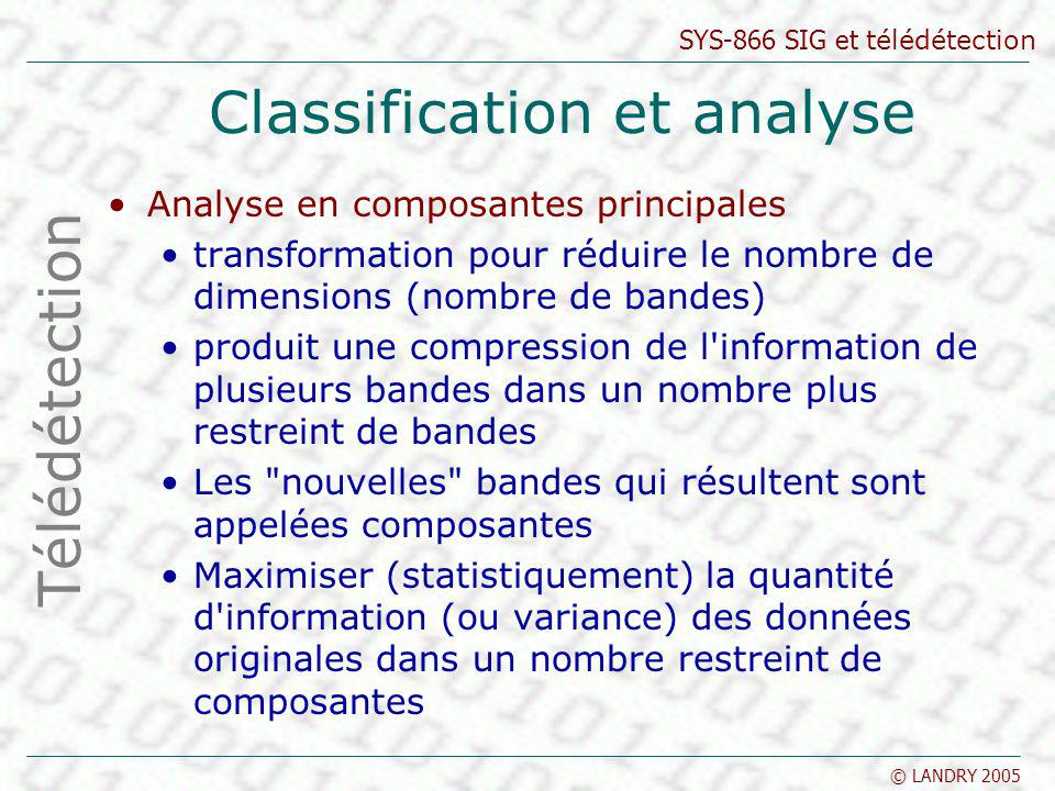 Classification et analyse
