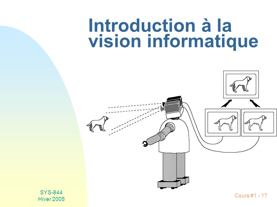 Introduction à la vision informatique