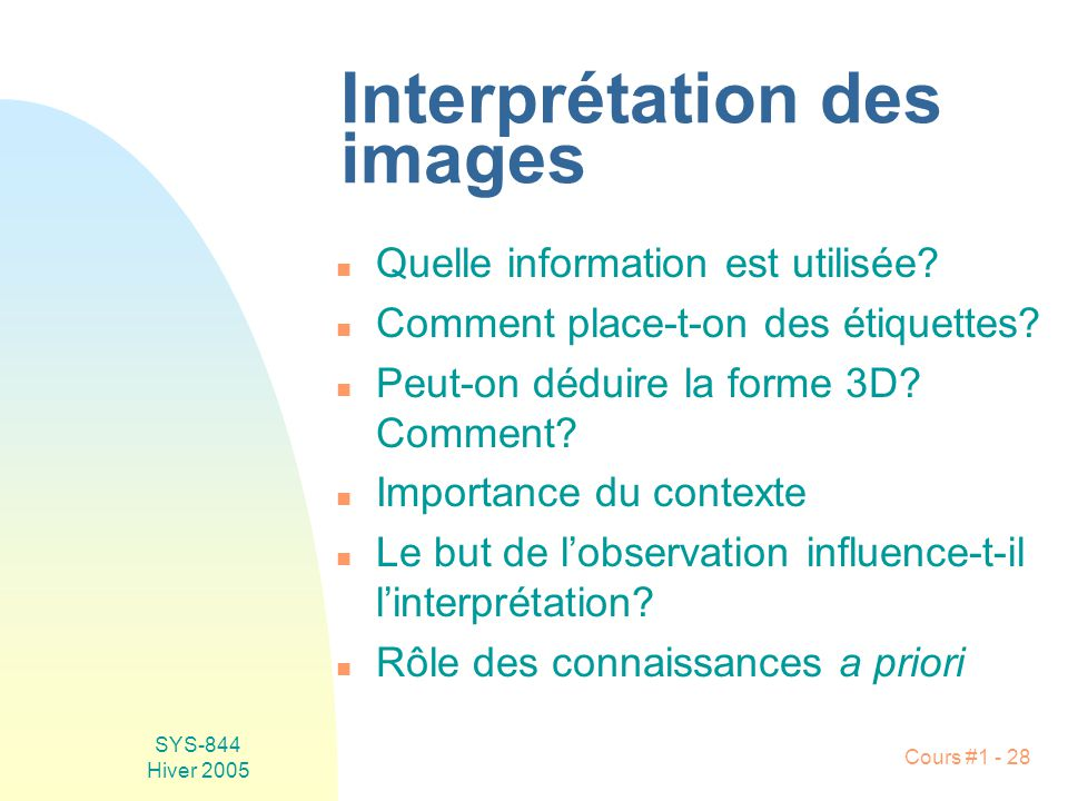 Interprétation des images