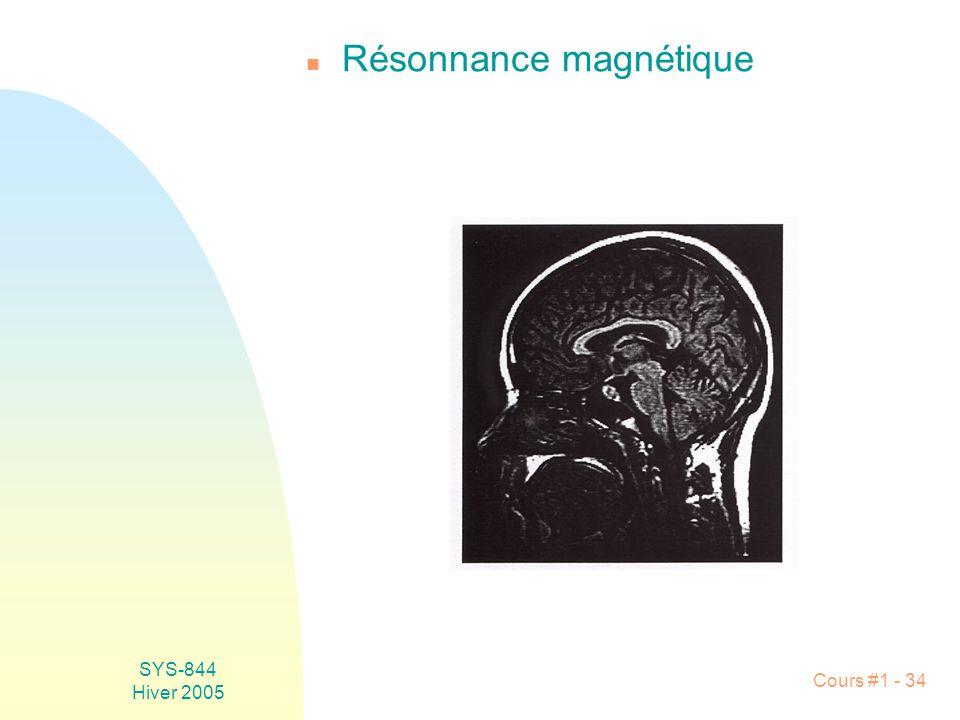 Résonnance magnétique