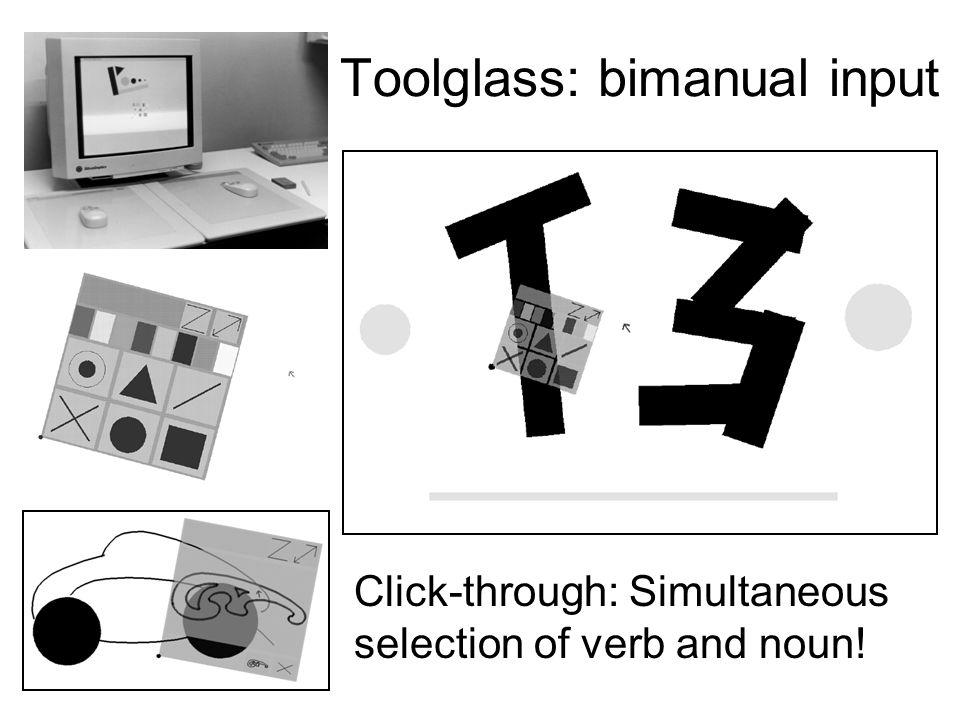 Toolglass: bimanual input