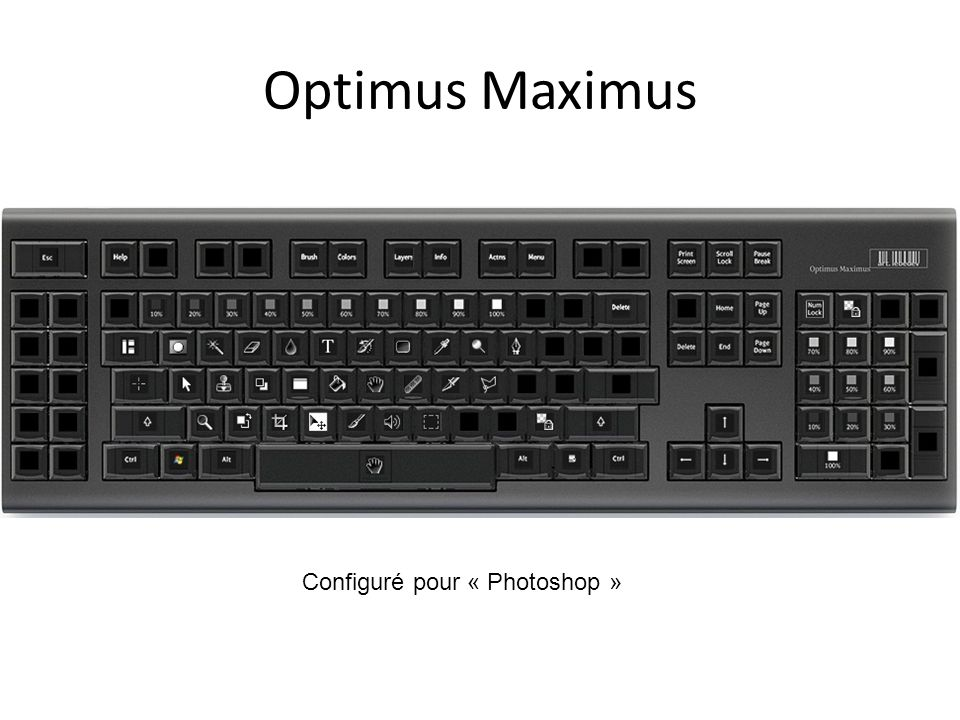 Optimus Maximus Configuré pour « Photoshop »