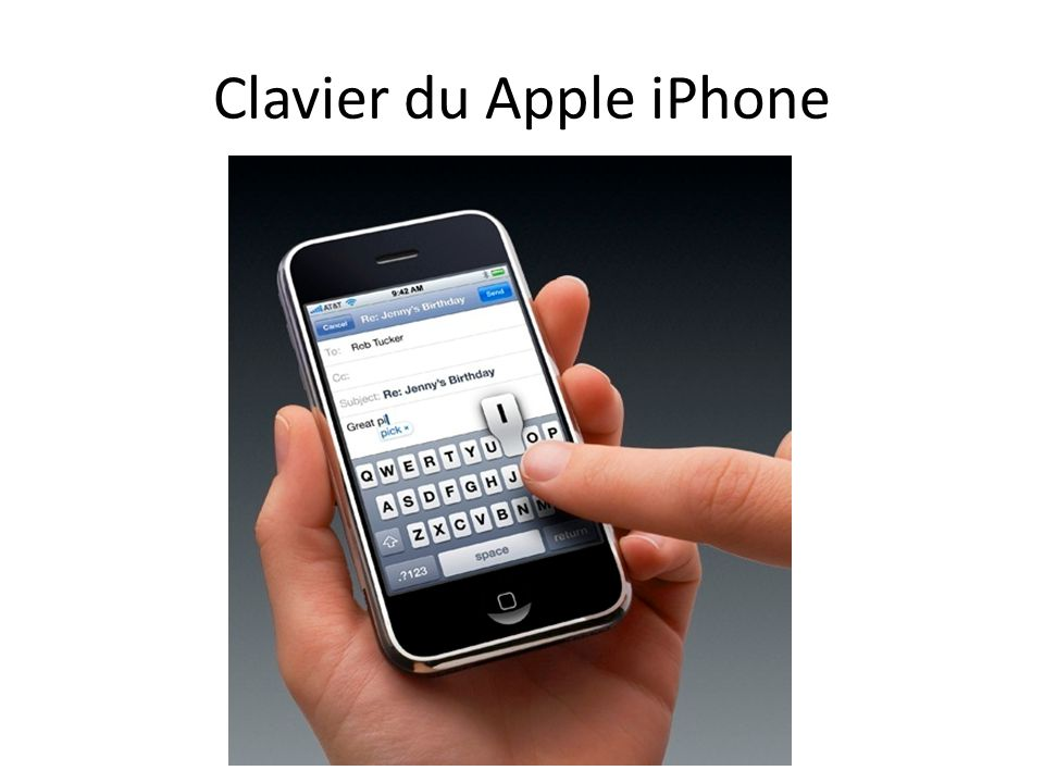 Clavier du Apple iPhone