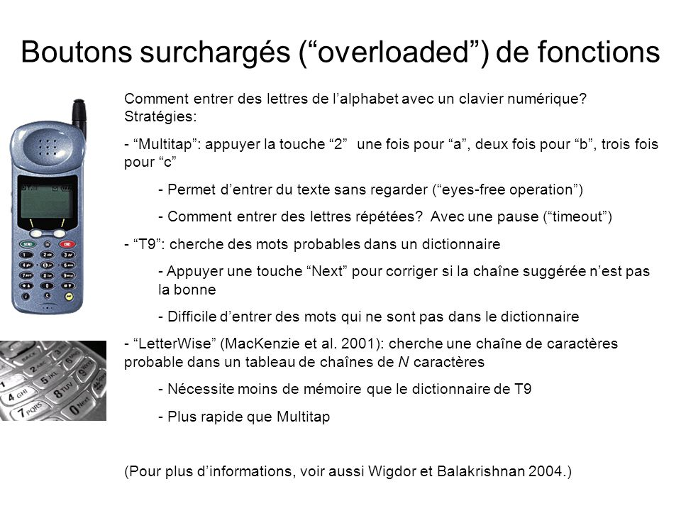 Boutons surchargés ( overloaded ) de fonctions