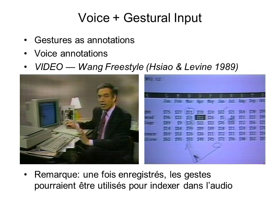 Voice + Gestural Input Gestures as annotations Voice annotations