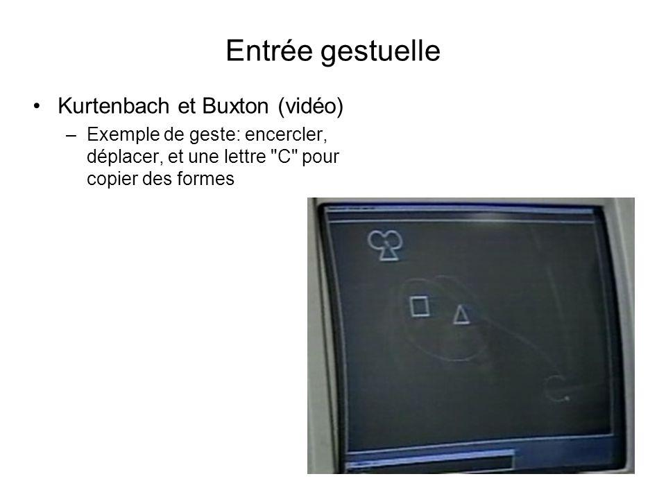 Entrée gestuelle Kurtenbach et Buxton (vidéo)