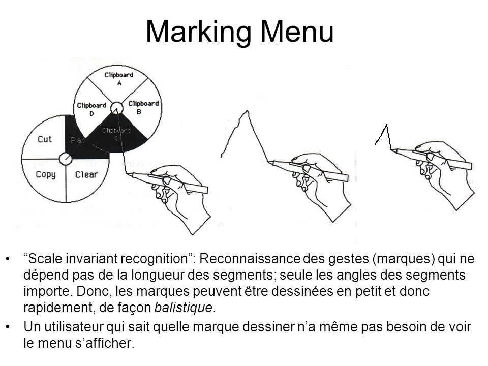 Marking Menu Ballistically: marks can be drawn very quickly.