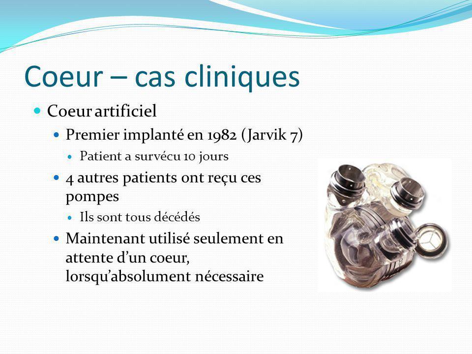 Coeur – cas cliniques Coeur artificiel