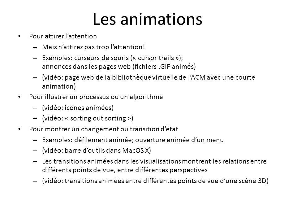 Les animations Pour attirer l'attention
