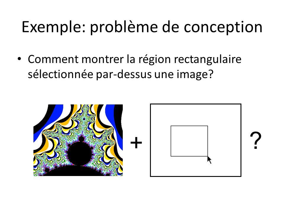 Exemple: problème de conception