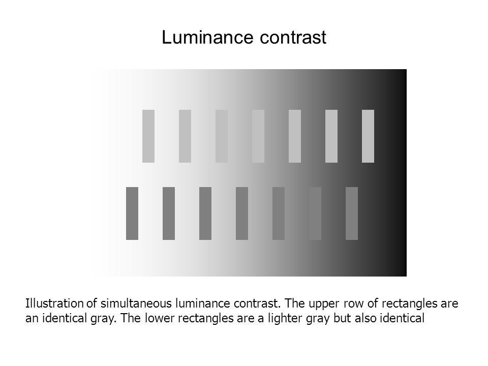 Luminance contrast