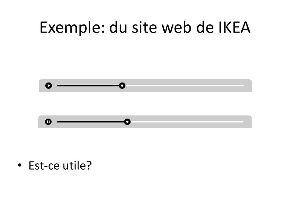 Exemple: du site web de IKEA