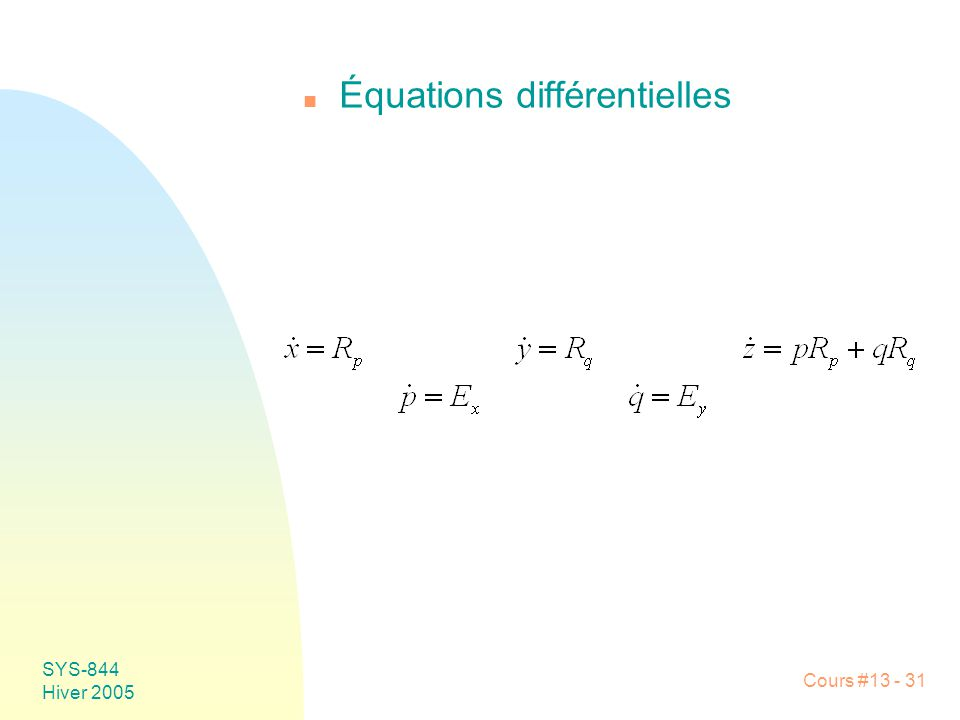 Équations différentielles