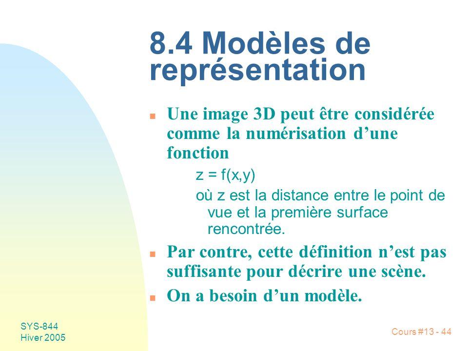 8.4 Modèles de représentation