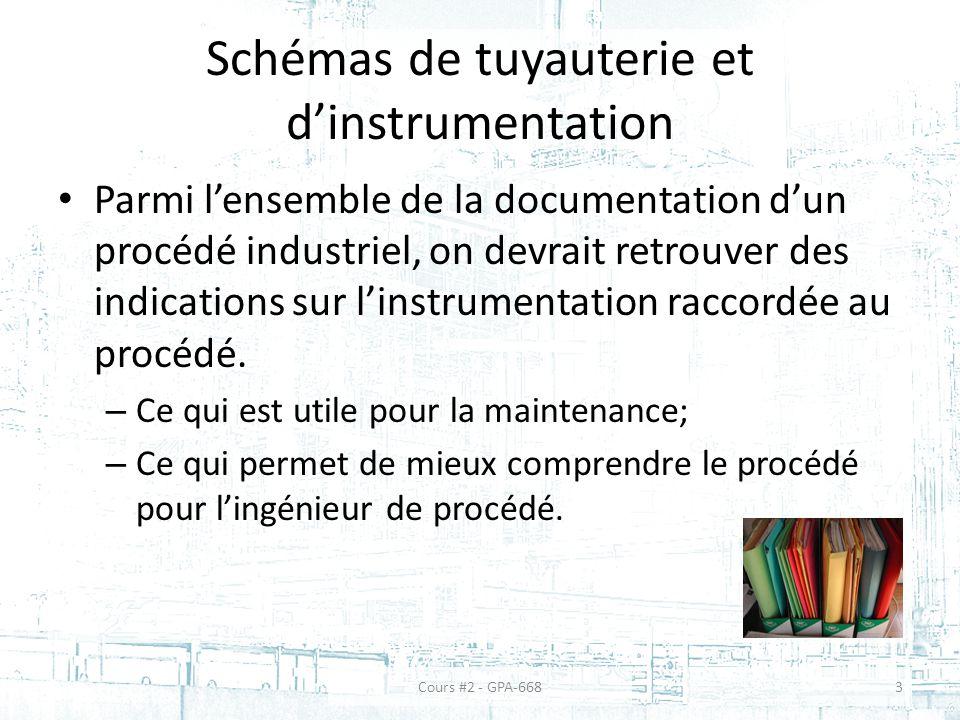 Schémas de tuyauterie et d'instrumentation