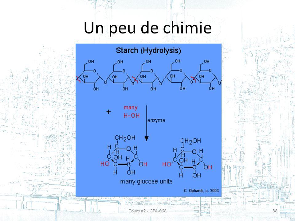 Un peu de chimie Cours #2 - GPA-668