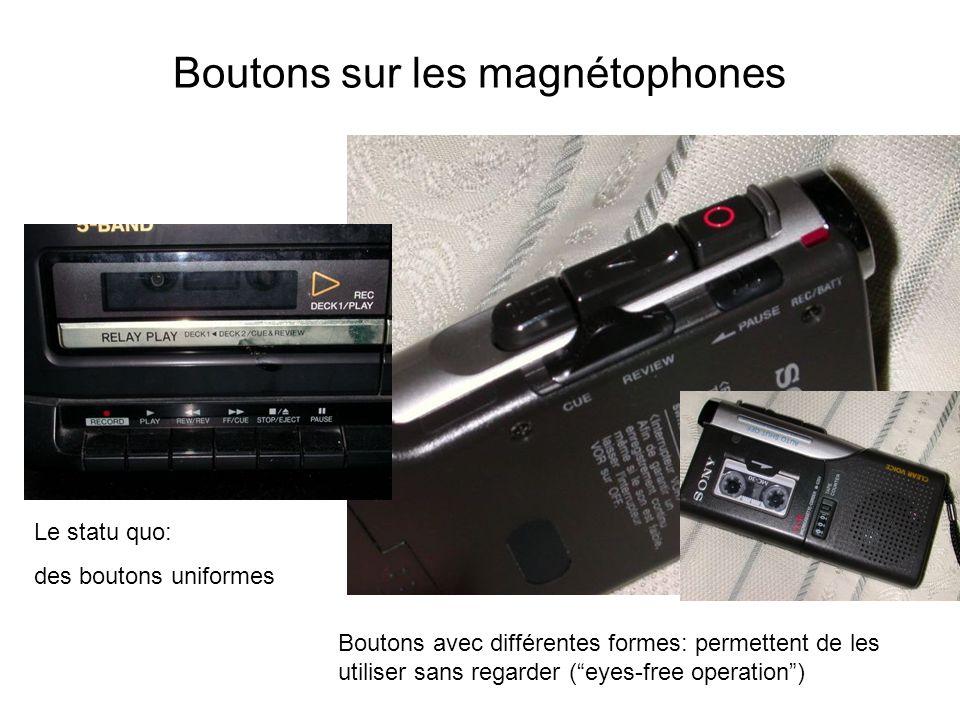 Boutons sur les magnétophones
