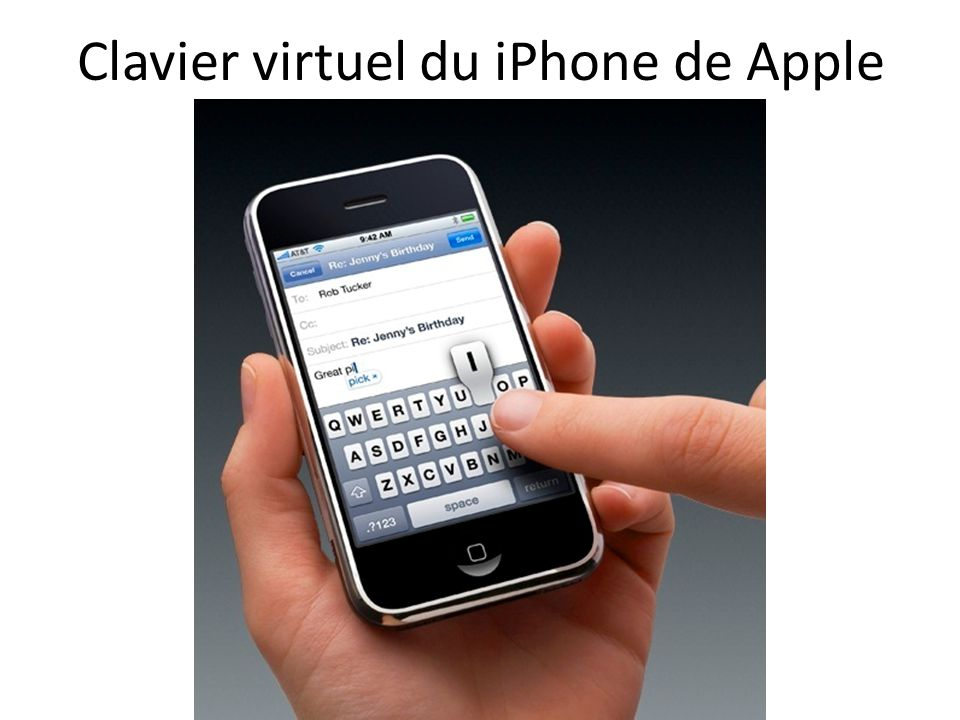 Clavier virtuel du iPhone de Apple