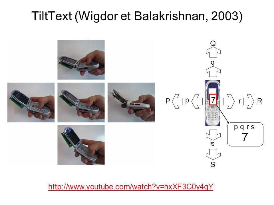 TiltText (Wigdor et Balakrishnan, 2003)