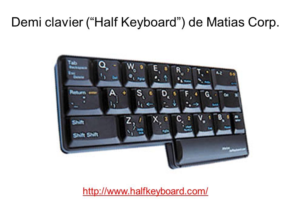 Demi clavier ( Half Keyboard ) de Matias Corp.