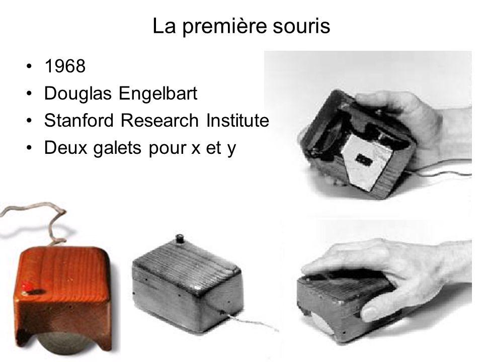 La première souris 1968 Douglas Engelbart Stanford Research Institute