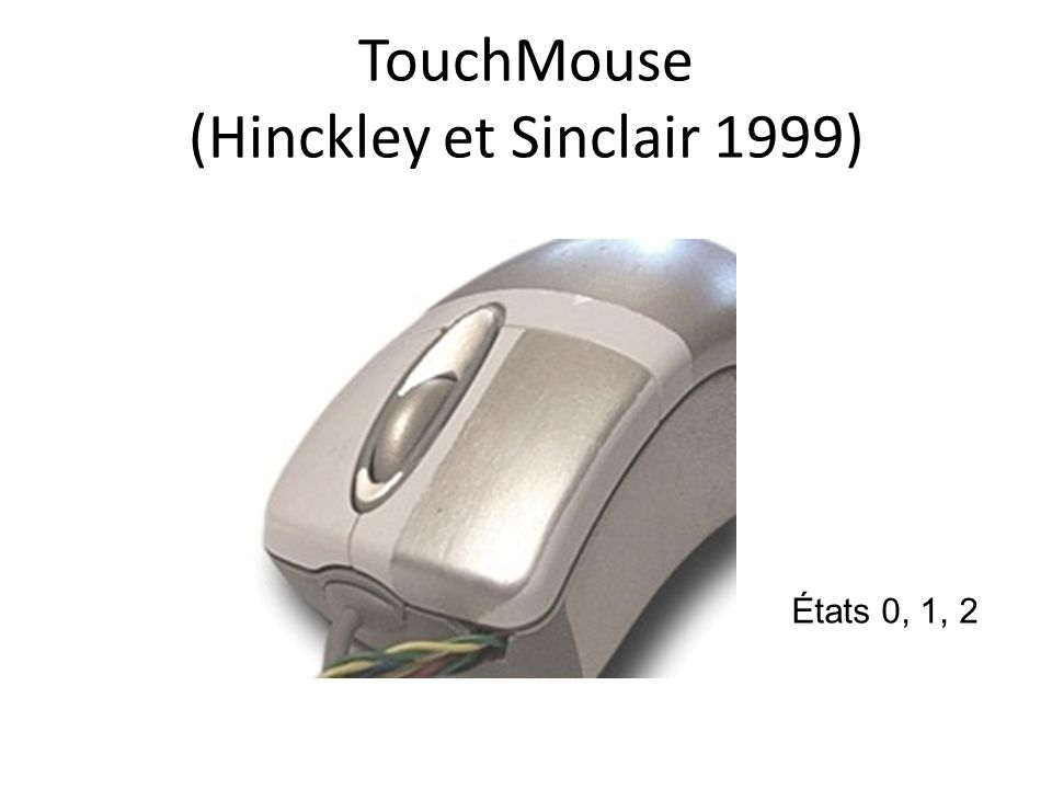TouchMouse (Hinckley et Sinclair 1999)