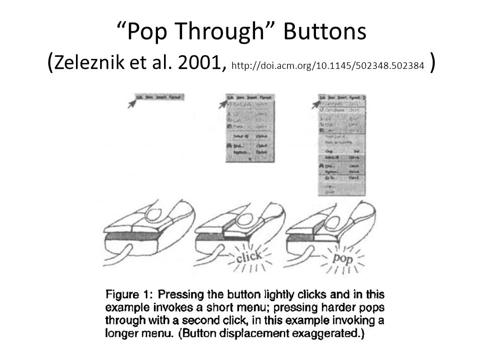 Pop Through Buttons (Zeleznik et al. 2001, http://doi. acm. org/10