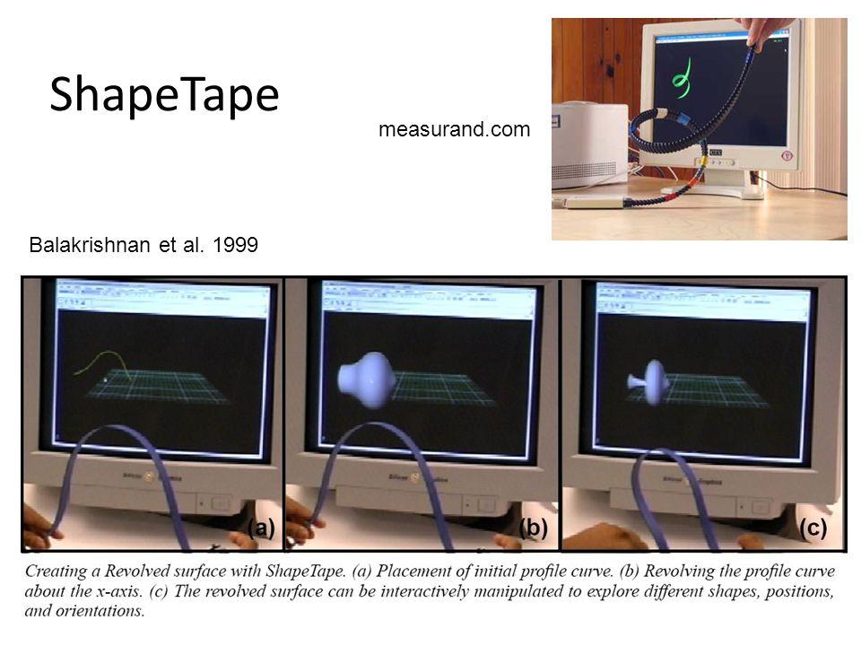ShapeTape measurand.com Balakrishnan et al. 1999