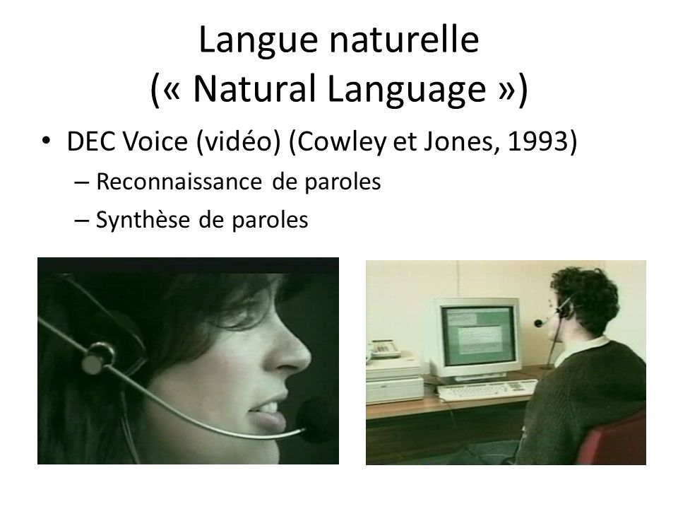 Langue naturelle (« Natural Language »)