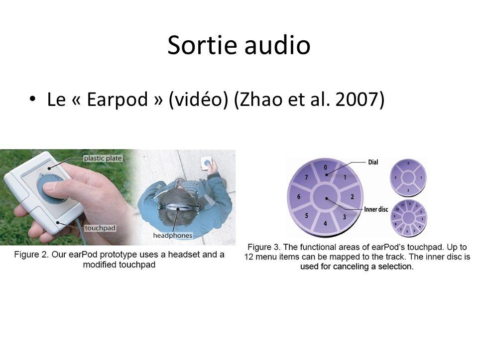 Sortie audio Le « Earpod » (vidéo) (Zhao et al. 2007)