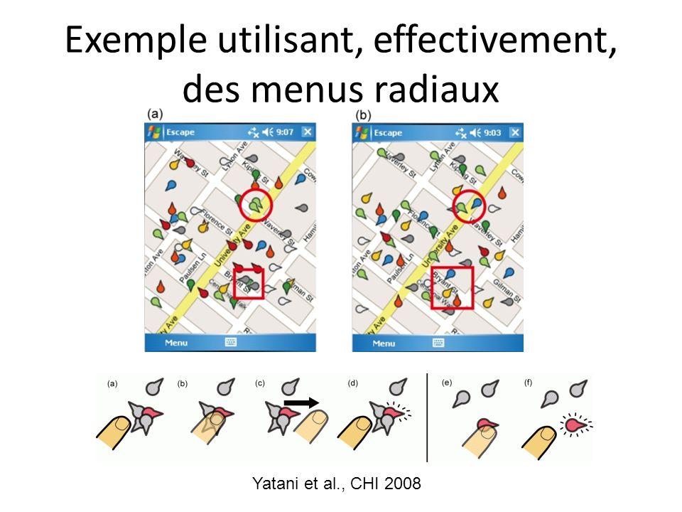 Exemple utilisant, effectivement, des menus radiaux