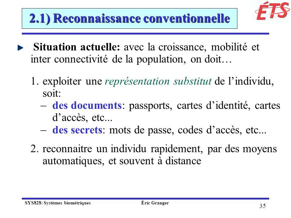 2.1) Reconnaissance conventionnelle