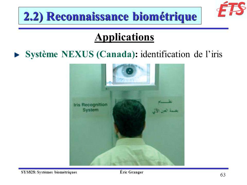 2.2) Reconnaissance biométrique