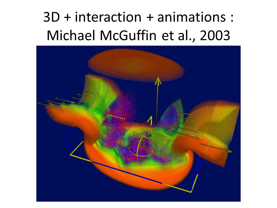 3D + interaction + animations : Michael McGuffin et al., 2003