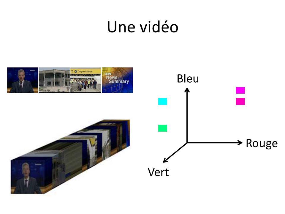 Une vidéo Bleu Rouge Vert