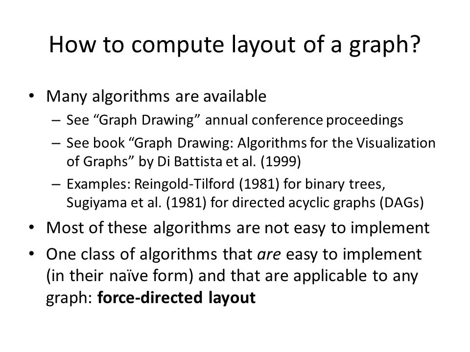 How to compute layout of a graph