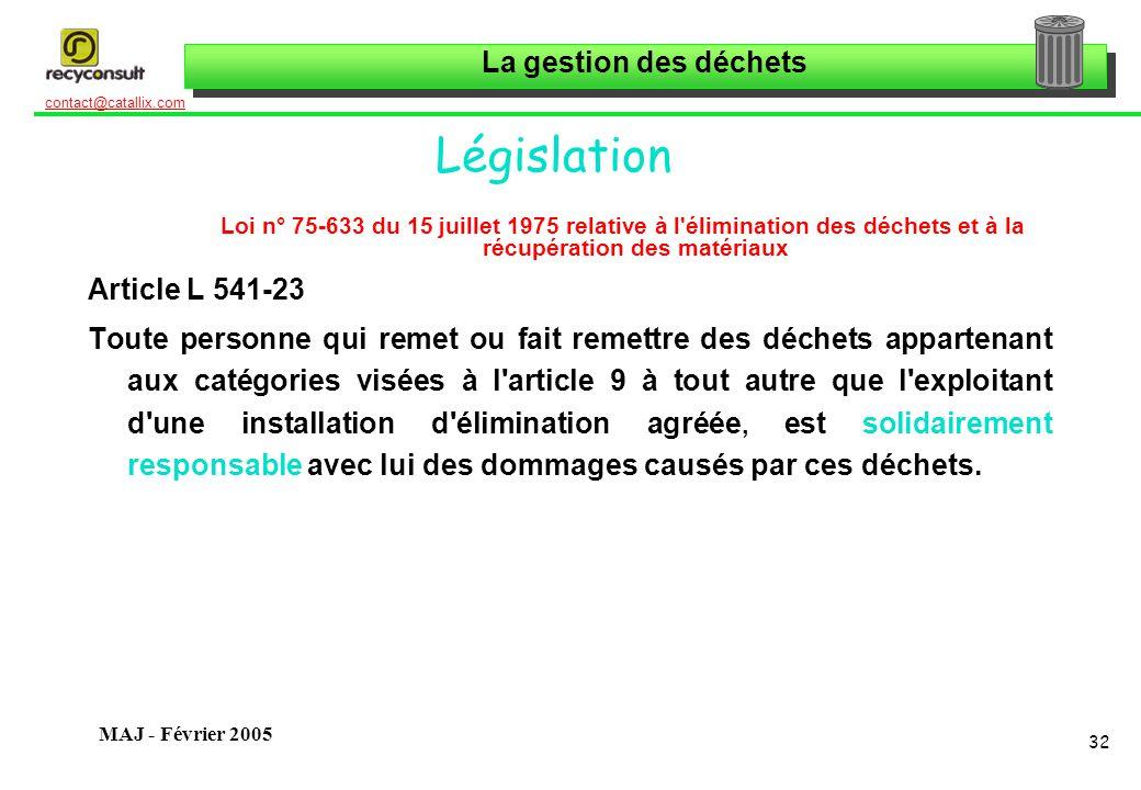 Législation Article L 541-23