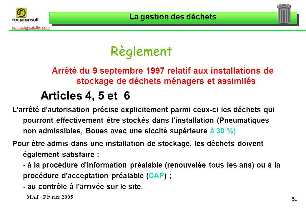 Règlement Arrêté du 9 septembre 1997 relatif aux installations de stockage de déchets ménagers et assimilés.