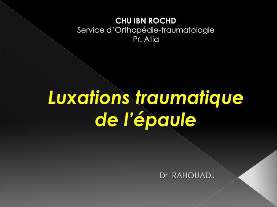 CHU IBN ROCHD Service d'Orthopédie-traumatologie Pr