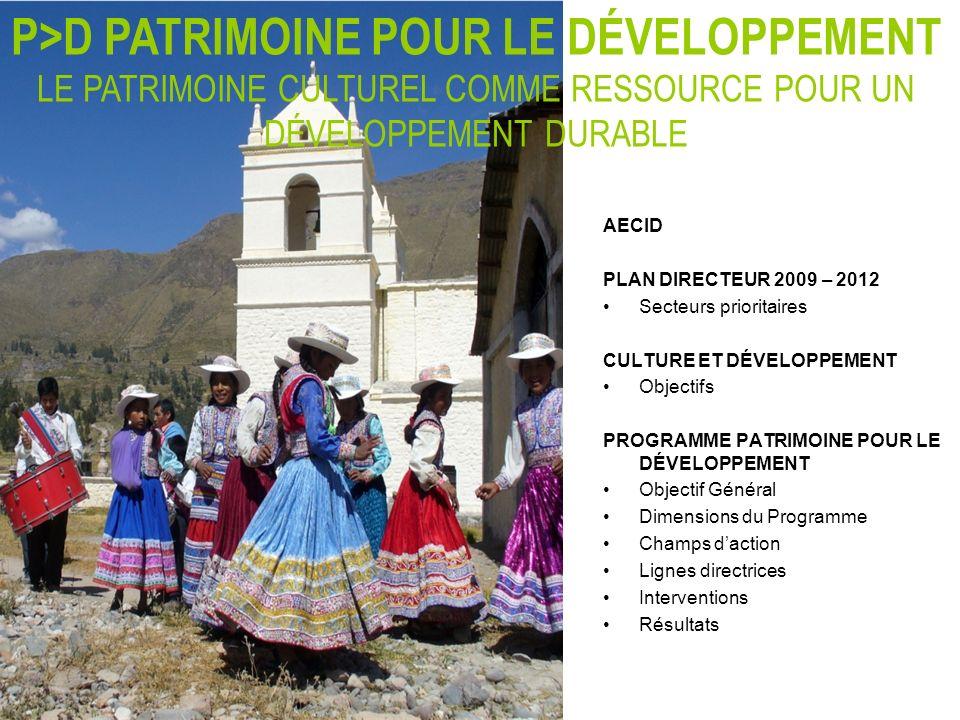 P>D PATRIMOINE POUR LE DÉVELOPPEMENT LE PATRIMOINE CULTUREL COMME RESSOURCE POUR UN DÉVELOPPEMENT DURABLE