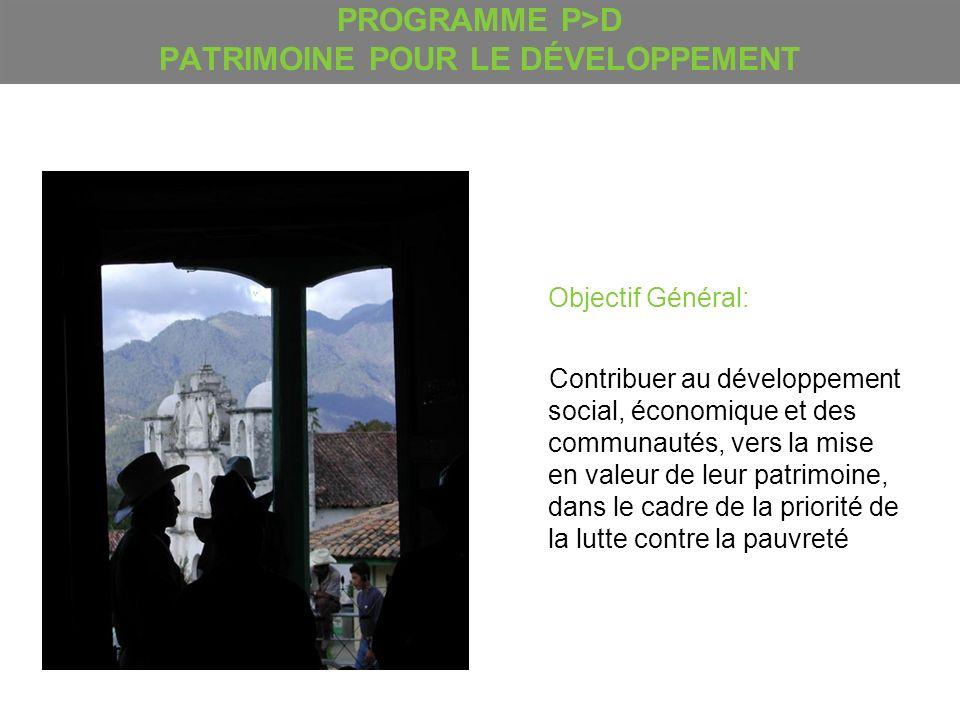 PROGRAMME P>D PATRIMOINE POUR LE DÉVELOPPEMENT