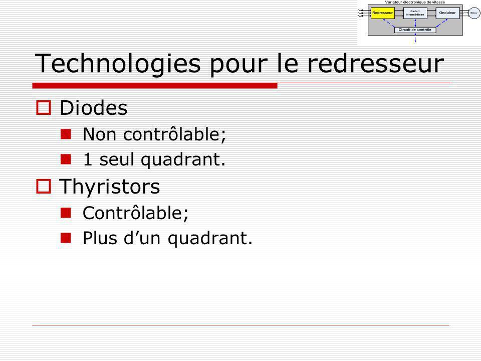Technologies pour le redresseur